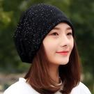 帽子女士春夏季薄款包頭帽韓版亮點星星堆堆帽時尚頭巾帽月子帽潮 店慶降價