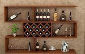 酒櫃吊櫃壁掛牆壁紅酒架置物架簡約壁櫃儲物櫃掛櫃餐廳   MKS  摩客美家