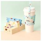 正版 蠟筆小新飲料杯套 飲料袋 飲料提袋 隨行杯袋 可調式飲料袋 COCOS DK280