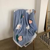 *怪好看*ins水蜜桃毛毯小清新午睡毯蓋毯加絨單層冬季床單空調毯 伊蘿