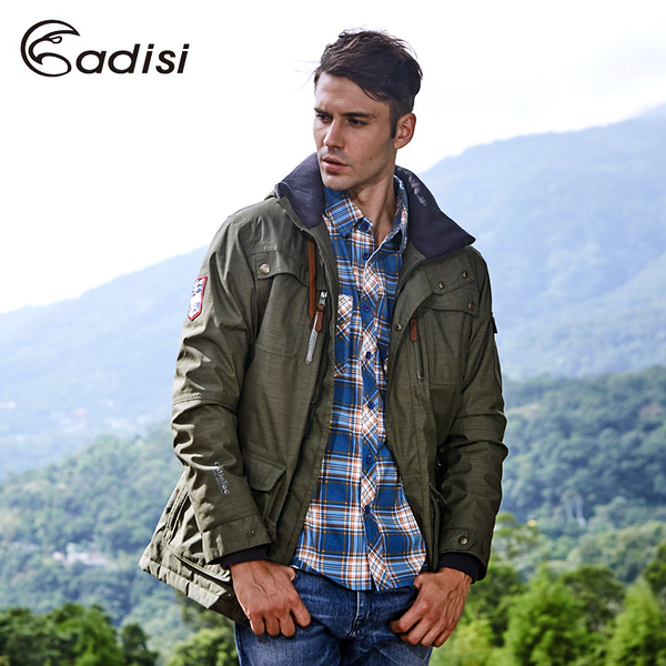 ADISI 男Primaloft可拆帽防水透氣保暖外套AJ1621045 (S~3XL) / 城市綠洲專賣(軍裝外套、防風、帥氣)