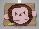 可愛俏皮猴子兩用涼被抱枕~臺灣製~幼園午安被《刷卡分期+免運費》