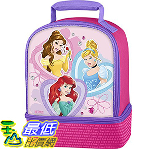 [106美國直購] 手提包 Thermos Dual Compartment Lunch Kit, Princess