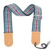 民謠木吉他背帶 特色個性電吉他肩帶 棉麻編織民族風格吉他琴帶 潮流前線