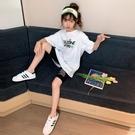 女童夏裝套裝兒童網紅洋氣2020新款韓版大童裝女孩夏季運動兩件套