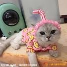 原創設計可愛貓咪頭飾生日拍照布偶搞笑寵物頭套貓帽子【小獅子】