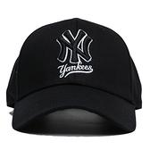 MLB 創信代理 黑 紐約洋基LOGO 棒球帽 後可調 老帽 男女 (布魯克林) 5732006900