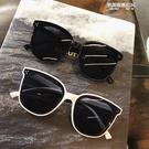 白色韓版墨鏡女街拍時尚新款方框圓臉防紫外線偏光黑色太陽鏡 凱斯盾