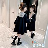 女童連身裙韓版大童兒童秋款裙子女孩長袖【奇趣小屋】
