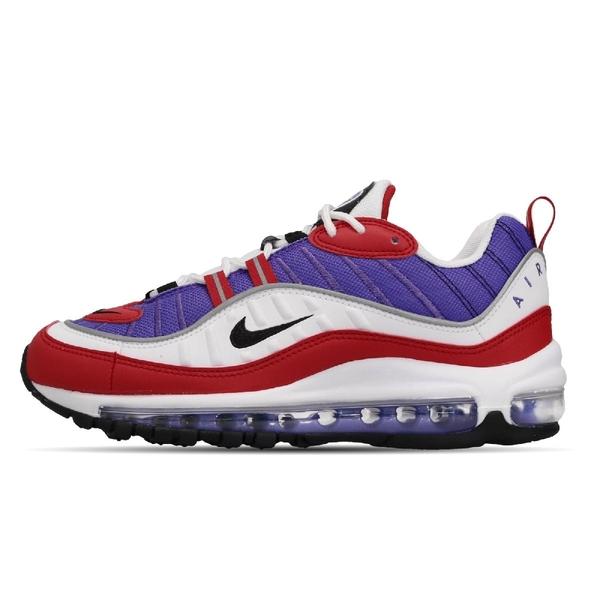 Nike 復古慢跑鞋 Wmns Air Max 98 紫 黑 女鞋 運動鞋 氣墊 Raptors 【ACS】 AH6799-501