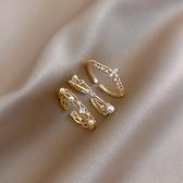 戒指氣質鋯石珍珠戒指女小眾設計簡約風食指指環ins潮個性網紅開口戒 雲朵