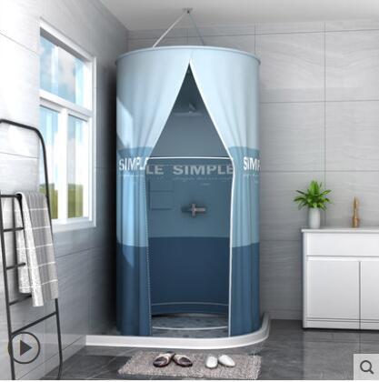 浴室浴簾防水布衛生間洗澡帳浴罩浴帳冬天家用保溫罩保暖浴照加厚 NMS名購新品