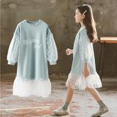 女童洋裝 連身裙春裝2021新款春秋季衛衣裙兒童洋氣童裝小女孩長袖裙子 百分百