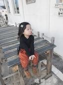 女童長袖上衣 新款秋冬裝高彈力長袖打底衫寶寶立領時尚薄棉上衣  嬌糖小屋