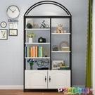 書架落地現代簡約置物架鋼木客廳簡易家用組合省空間多層兒童書櫃 2021新款書架