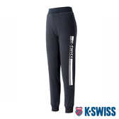 【超取】K-SWISS Ks Waist Band Sweat Pants棉質運動長褲-女-黑