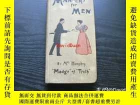 "二手書博民逛書店Manners罕見for menY443410 by Mrs. Humphry (""Madg"