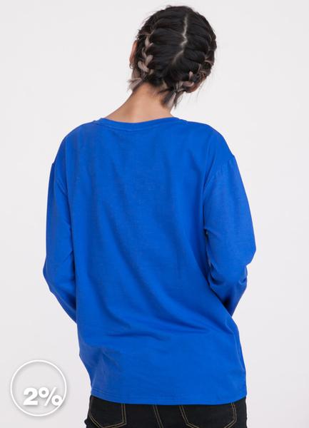 【2%】2% 童趣對話窗長袖上衣-藍