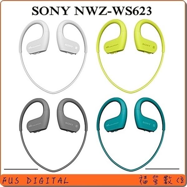 送KKBOX-30天【福笙】SONY NW-WS623 4GB 無線防水隨身聽(索尼公司貨) 藍牙 耳機麥克風 免持通話