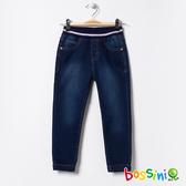 【歲末出清】彈性針織牛仔褲01牛仔藍-bossini女童