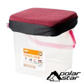 PolarStar 台灣 個人野餐坐墊 (P888 RV桶專用坐墊套)『酒紅』P17441 RV桶.置物桶.收納桶.收納箱