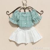 特女童短袖襯衫2020夏裝新款中大童洋氣夏裝韓版寬鬆純棉休閒襯衣 漾美眉韓衣