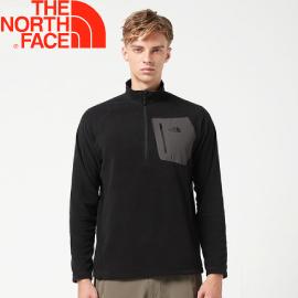 【The North Face 男款  刷毛半門襟上衣 《黑》】CGM2JK3/刷毛上衣/長袖上衣/保暖/刷毛衣★滿額送