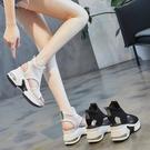 厚底涼鞋女夏季2020年新款網紅百搭魚嘴時尚休閒增高跟女鞋ins潮 漾美眉韓衣