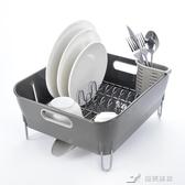英式排水瀝水架大號塑膠廚房碗碟瀝水置物架廚房角架碗架不銹鋼 YXS YXS 樂芙美鞋