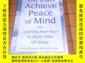 二手書博民逛書店英文原版:you罕見can achieve peace of m