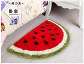 半圓形進門地墊 腳墊廚房臥室門廳吸水防滑門墊可愛地毯大小西瓜【櫻花本鋪】