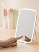 化妝鏡 佐敦朱迪化妝鏡女台式LED帶燈便攜補光小米鏡子宿舍桌面網紅隨身 新年特惠
