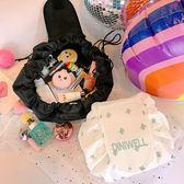 便攜出差旅行洗漱包小清新學生大容量日繫女抽繩化妝包整理收納袋   芊惠衣屋