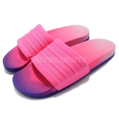 adidas 拖鞋 Adilette CF Fade W 粉紅 桃紅 藍 漸層 女鞋 運動拖鞋 【PUMP306】 CG3437