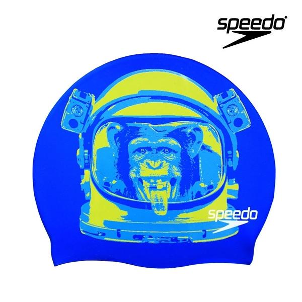 ≡Speedo≡  SLOGAN PRINT CAP 成人矽膠泳帽 SD808385A246B