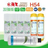 水蘋果居家淨水~ 水蘋果公司貨 EVERPURE H54 濾心 + EssenPure加強版前置濾心6支組(5微米壓紋PP+樹脂)