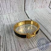 BRAND楓月 HERMES 愛馬仕 經典熱銷 金釦黑琺瑯 H手環 飾品 配件