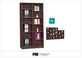 【MK億騰傢俱】BS252-01胡桃3*6尺中空書櫃