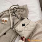 大氣復古小包包新款復古網紅斜挎包時尚女士菱格鏈條包【小獅子】