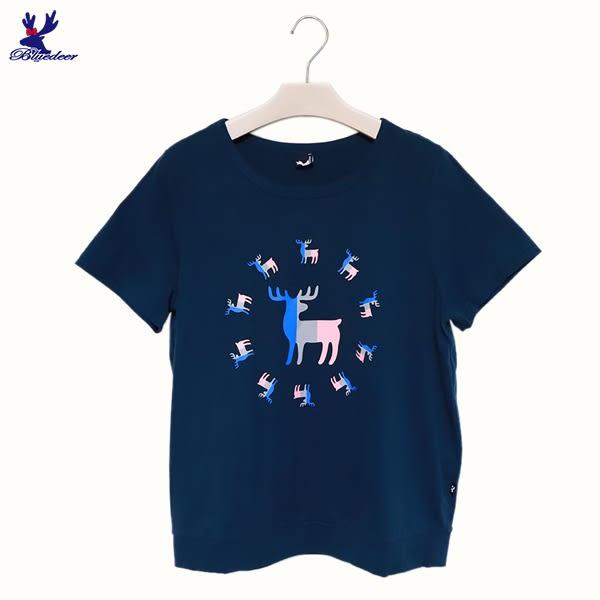 American Bluedeer-三色印花鹿T(魅力價) 春夏新款