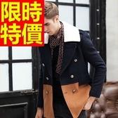 毛呢外套-羊毛自信溫暖短版男風衣大衣2色62n35【巴黎精品】