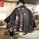 夏季男士中式外套中國風休閑開衫男裝復古風仙氣唐裝改良漢服古裝 布衣潮人