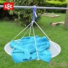 日本LEC晾衣網毛衣晾曬網兜折疊曬衣籃曬衣服網防變形內衣晾衣籃