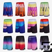 運動籃球褲男女五分褲運動褲寬鬆休閒短褲夏季【左岸男裝】