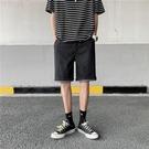 牛仔褲短褲男夏季薄款外穿休閑中褲ins港風高街五分褲寬松直筒6分