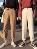 寬鬆不規則褲縫牛仔褲高腰直筒褲寬管褲長褲學生褲子