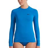 NIKE SWIM 成人女性長袖防曬衣-(藍)