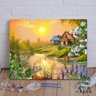 diy油畫數字油彩畫手繪裝飾畫客廳清新掛畫【步行者戶外生活館】