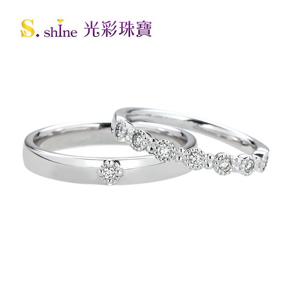 【光彩珠寶】婚戒 日本鉑金結婚戒指 對戒 克拉戀曲