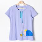 【Dailo】刺蝟造型圓領上衣-紫  1...